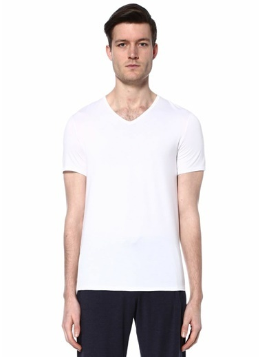 Derek Rose V Yaka Tişört Beyaz
